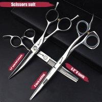 Ciseaux à cheveux 5,5 / 6 pouces Coiffeur professionnel Amincissement Barber Set Coup de cheveux