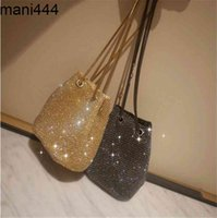 Dinner Bag inlaid with diamond, water drill, super flash evening celebrity banquet net, red bucket bag, hand