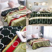 Lettre classique imprimé couverture design d'épaisseur chaude hiver jet de couverture universelle maison de chambre à coucher de sommeil extérieure