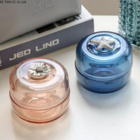 Storage Bottles & Jars Modern Glass Jewelry Box Small Exquisite Earrings Necklace Accommodator Can Home Desktop Candy Snack Decoration