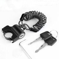 WEST BIKING Mini Bike Helmet Lock Anti-Theft Alloy Cable Lock For Helmet Bag Motorcycle MTB Bicycle Accessories With Two Keys - Black