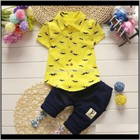 Sets Clothing Baby, & Maternityclothes Toddler Kids Baby Boys Beard Short Sleeve Shirts Tops+Shorts Pants Outfit Clothes Set 2 Pcs Casual Dro