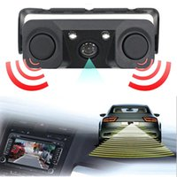 Car Rear View Cameras& Parking Sensors Camera Night Vision LED Light High Definition Rearview Vehicle Add Reversing Radar Sensor Detector