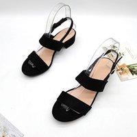 Sandals Black Platform Suit Female Beige Summer Heels 2021 Women's Buckle Strap Velvet Shoes Med Open Toe Large Size Espadrilles