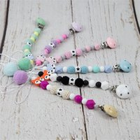 Pacifier Clip Chain Baby Infant Soothie Accessories Silicone Koala Beads Paci Holder Clips Teether Shower Toy 1573 B3