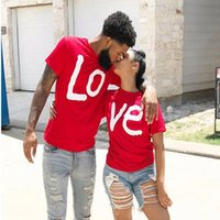 Women's T-Shirt Couple Summer LOVE Printed Clothes Tshirt Christmas Casual Cotton Short Sleeve Tees Brand Loose Top