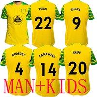 21 22 Norwich Soccer Jerseys 2021 Città Huggill Home Kit Kit Roberts Pukki Hernandez Benendia Stepermann Giannoulis Camicie da calcio Rashica Gibson Skipp Cantwell
