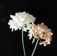 Fiori artificiali Silk Hydrangea Flower Flower Flowerflowers Bouquet Bride Bouquet Home Decorazioni di nozze 6 colori opzionali EEB6001