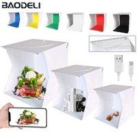 Folding Lightbox 20 30 40cm Portable Photography Photo Studio Tent LED Softbox Background Kit USB Mini Light Box For DSLR Camera