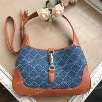 2021 tasarım kadın çantaları 28 cm kot eyer çanta 1961 kadın moda omuz çantaları inek derisi deri lady hobos crossbody çanta mini çanta