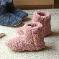 Slippers Winter Couple Japanese Fur Women Warm House Plush Cotton Indoor Floor Coral Fleece Shoes