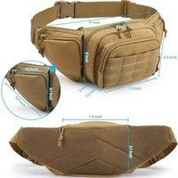 Stuff Sacks Fanny Pack For Men Women Kids Tactical Waist Bag Adjustable Belt Travel Running Pistol Gun