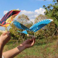 Borracha eléctrico poder voar pássaro pássaro pipa avião avião avião helicóptero crianças esportes ao ar livre brinquedo interativo presentes