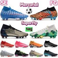 Fashion Mercurial Superfly 7 Elite SE FG calcio calcio scarpe da calcio kaki electro verde safari mexico città scelta triplo nero mens designer stivaletti snakers