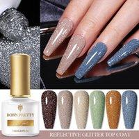 Nail Gel BORN PRETTY 7ml Top Coat Reflective Glitter Function Polish Semi-Permanent Soak Off UV LED Need Super