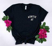 Teyze AF Cep Baskı Erkekler T Gömlek ve Bayan Kadınlar Pamuk Komik Lady Yong Kız Sokak Üst Tee A