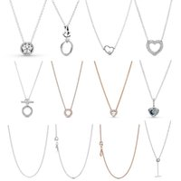 Chains Love Lady Is Suitable For Original DIY Pendant Cadena Plata 925 Designer Sterling Silver Necklace Jewelry