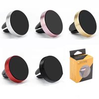 Car Magnetic Air Vent Mount Mobile Smart Phone Holder Handfree Dashboard Metal Stand For Cellphone samsung iphone xiaomi huawei