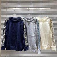 Logo Mode Logo Sangle Couleur d'équipage Couleur oblique à manches longues Mens Femme Ribbon Designer Sweaters K1YR #