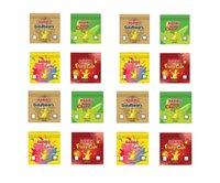 Baribo Lezzet Çanta Gummies Baggie Boş Ambalaj 600 mg Çanta Çanta Seçilebilir Ediblesgummy Ekşi Fermuar Perakende Paketi Seçmek için 6 Renkler