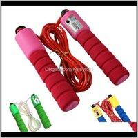 Ajustável esportes salto cordas engrossar espuma alça de espuma contando pular corda portátil anti equipamentos de fitness 2 37gr B BNRJ8 0A2HB