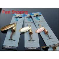 Baits Sports Outdoors Drop Delivery 2021 Spinner Fishing Lure Hook 6 Size 3 Colors Freshwater Spinnerbaits Bionic Vib Blades Metal Jigs Lures