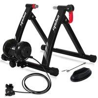 Equipamento de treinamento de bicicleta unisky Equipamento de equitação 6 Velocidade resistência magnética de bicicleta interior Estacionário de aço estacionário ajustes para 26-28inch, Redução de ruído da roda 700c