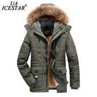 UAICESTAR Men Winter Jacket Parkas Coat Fur Collar Fashion Thicken Warm Jackets Casual High Quality Large Size 6XL Men's Coat 211023