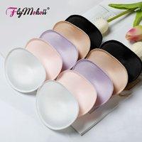 Flymokoii 1pair / lote mulheres sutiã acolchoado copos de peito inserir potachado push up biquini invisível esponja espuma espuma pads para maiô