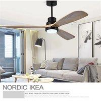 Nordic Retro Loft Dinning Room Led Ceiling lamp Fan Light Modern Bedroom Living Restaurant Coffee Shop Solid Wood lights