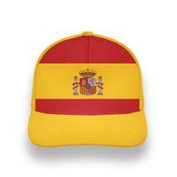 Spagna maschio gioventù libero su misura Nome Numero numero ESP Boy Hat Nation Bandiera ES Spagnolo Country College Stampa Photo Berretto da baseball