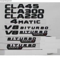 Gloss Black For Mercedes Benz C117 X117 CLA35 CLA45 AMG CLA220 CLA200 CLA250 V8 BITURBO 4MATIC Trunk Rear Star sticker Emblems Badges