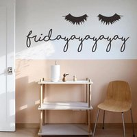 Wall Stickers Creative Sexy Eyelashes Sticker Living Room Bedroom Home Decoration Background Decal Art Removable Wallpaper