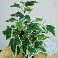 12 pçs / caixa casa simulação planta jardim decoração begonia bonsai plantas verdes flor vermelha flor vermelha folha de batata frita