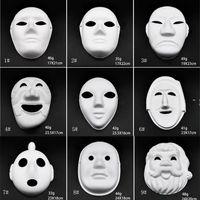 Makyaj Dans Beyaz Maskeleri Embriyo Kalıp DIY Boyama El Yapımı Maske Hamuru Hayvan Cadılar Bayramı Festivali Parti Maskeleri Beyaz Kağıt Yüz Maskesi OWF9354