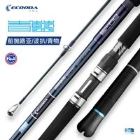 Cyan Blue Boating Casting Fishing Rod 2.29m-2.54m Drag Power 15-25kg Lure WT25-200g Popping For Tuna GT Boat Rods