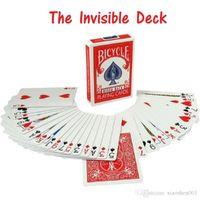 Bicicleta invisible jugando cartas increíble cubierta estándar póker tarjetas mágicas trucos mágicos accesorios mentalismo comedia niño rompecabezas juguetes