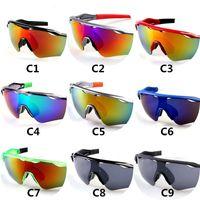 Verão moda marca óculos de sol homens e mulheres esporte ciclismo sol óculos praia bicicleta óculos óculos cor 9 cor