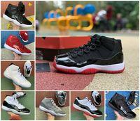 Top Qualité Jumpman 11s Chaussures de basketball 11 Faible Jubilé 25e Anniversaire Haut 45 Concord 23 Legend Blue Université Bleu Red Bred Bred Sports Sports UNC