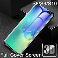 9H 3D Tempered Glass protector cover full glue adhesive LCD For Galaxy s7 S8 S9 S10+ plus Curved screen Protective Film