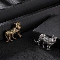 Leopardo de tigre europeu e americano retrô camisa de leopardo pino decoração criação de liga crachá de alta qualidade entrega rápida