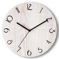 Wall Clocks Simple Wooden Clock Creative Modern Design Watch Living Room Decoration Kitchen Saat Home Accessories B1113