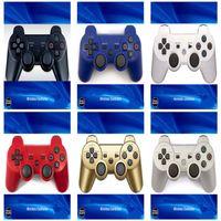 Controller wireless per PS3 PlayStation 3 Controller Bluetooth Game Doppio Shock Joysticks Gamepad con scatola al minuto