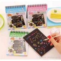 Fai da te graffio arte carta notebook nota disegno stick sketchbook bambini partito regalo regalo creativo immaginazione sviluppo giocattolo mix colori colori