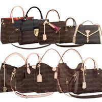 المرأة حقيبة يد مصممي المصممين حقائب الكتف حمل حقيبة حقائب crossbody محفظة متعددة pochette اليد البني حقائب جلد طبيعية
