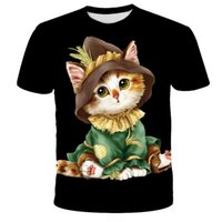 Men's T-Shirts Animal Cat 3D Printed Casual T-shirts, Cute And Interesting Styles Of Western-style Women's Clothing, Fashionable Summer Clo