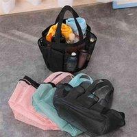 Malla neta zapatos bolsa 8 bolsillos laterales bolso bolso de malla playa baño baño totes organizador almacenamiento lavandería maquillaje cosmético lavado bolsa gg32qhhhhj
