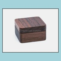 Boxes Bins Housekee Organization Home & Garden100Pcs Lot Natural Wood Cufflinks Magnetic Er 1 Pair Cuff Link Holder Case Jewelry Storage Gif