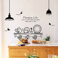 Kitchen Utensils Butterfly Letter Removable Wall Stickers Art Decals Mural DIY Wallpaper for Room Decal Home Decoration