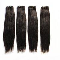 """100 человеческих волос уток бразильских прямых пачка наращивания волос # 1В черный # 2 # 8 Браун # 613 Blonde Mix Длина бразильских волос 12 """"-24"""
